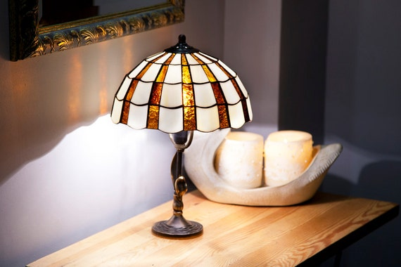 Library Lights Reading Lamp Desk Lamp Table Lamp Stained Etsy