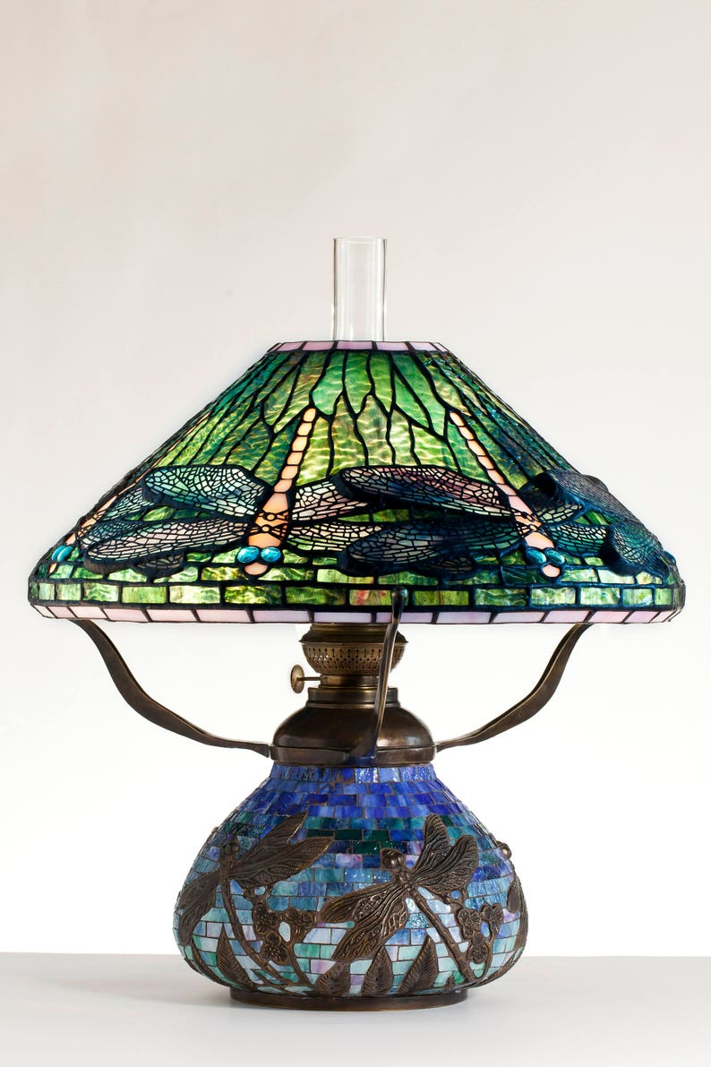 Ważka Lampa Lampa naftowa lampy Tiffany lampy biurkowe  de1c2b0d5f1