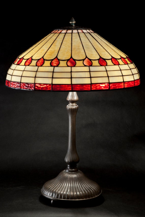 Art Deco Lamp Shade Art Deco Light Stained Glass Table Etsy