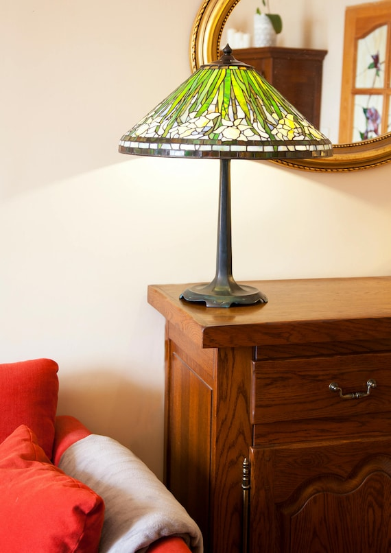 Bedside Lamp Daffodil Standing Stained Glass