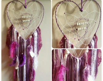 Dream - catcher colors and names to choose heart shaped