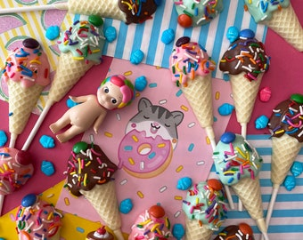 Ice Cream Chocolate Lollies
