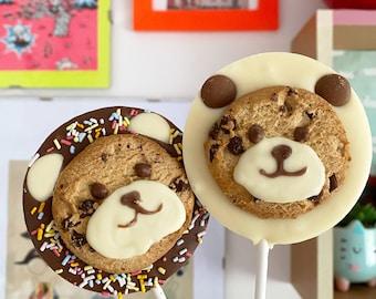 Bear Chocolate & Cookie Lollies