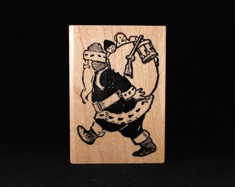 """Santa With Pack (2"""" x 3"""")"""