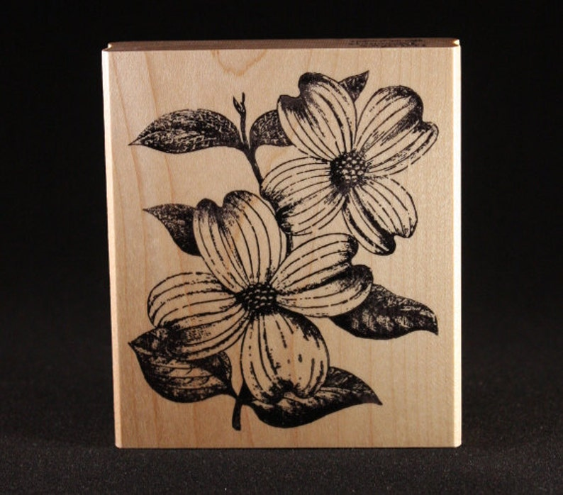 Dogwood Rubber Art Stamp 3 x 3.5 image 0