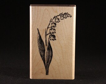 """Llily of the Valley Rubber Art Stamp (1.75"""" x 3.25"""")"""