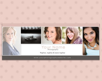 Facebook Timeline Cover Template for Photographers - Pink