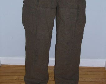 SALE Wool Cargo Military Pants Wilh Schwarz Germany 30x30 Vintage 5a2587908