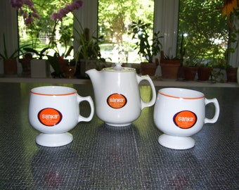 Coffee Pot And Cups Etsy