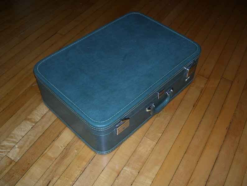83f455885 Skyway Suitcase Green Hardcase Luggage 1950s Large Vintage | Etsy