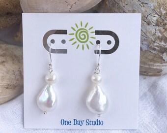 Cultured Prarl Earrings