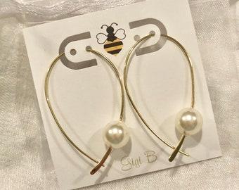 Wishbone Pearl Earrings