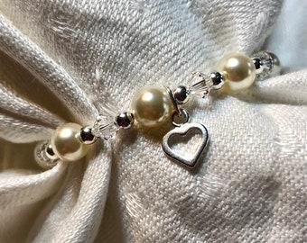 Child's Crystal & Pearl Bracelet