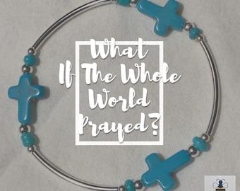 Howlite Prayer Cross