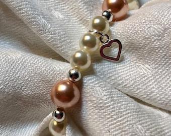 Child's Pink & Pearl Bracelet