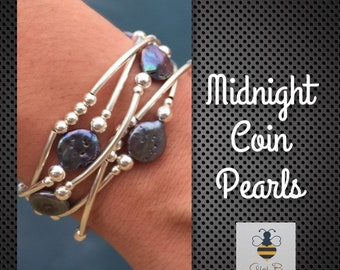 Midnight Coin Pearls