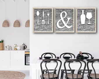 Modern Kitchen Decor Etsy