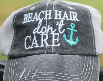 Beach Hair Don't Care Trucker Cap
