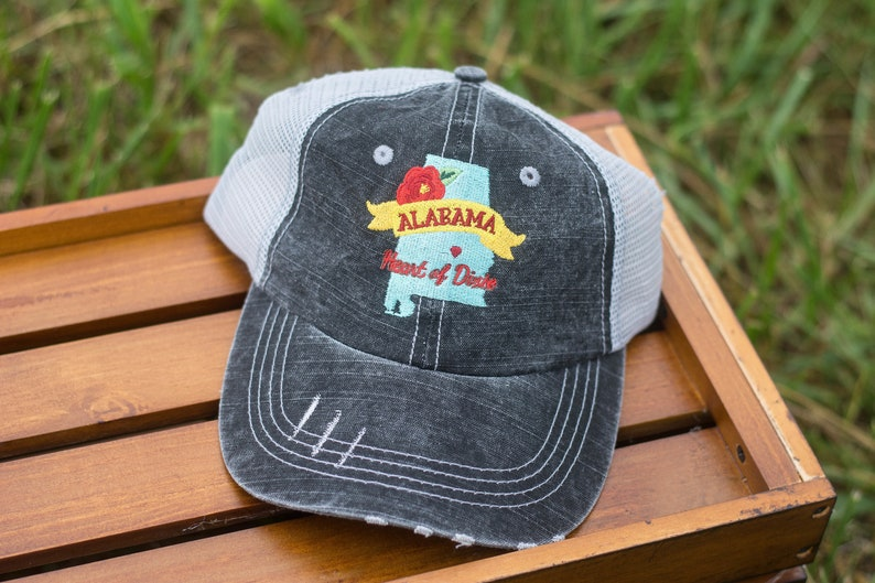 Heart of Dixie Trucker Hat Alabama image 0