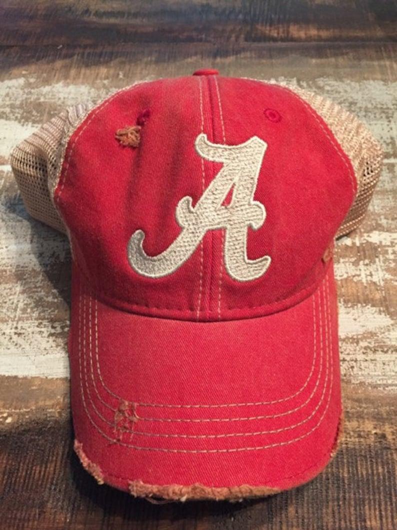 Alabama Crimson Tide Roll Tide Distressed Ball Cap Vintage image 0