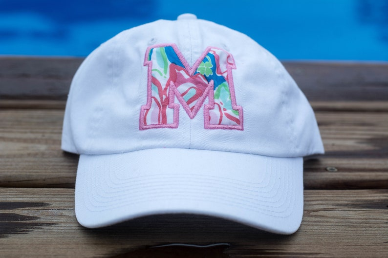 Applique' Lily Fabric Ball Cap image 0