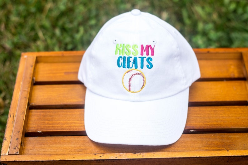 Kiss My Cleats Ball Cap image 0