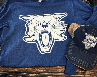 Kentucky Wildcat Distressed Trucker Hat & Tee Gift Set