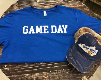 Game Day Distressed Trucker Hat & Tee Gift Set