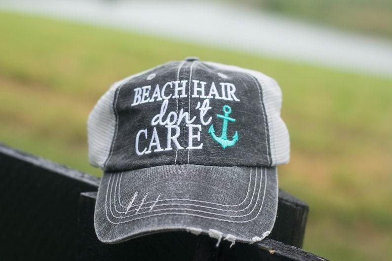 Beach Hair Don't Care Trucker Cap image 0