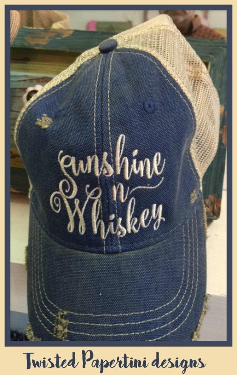 Sunshine n Whiskey Ball Cap image 0