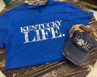 Kentucky Life Distressed Trucker Hat & Tee Gift Set