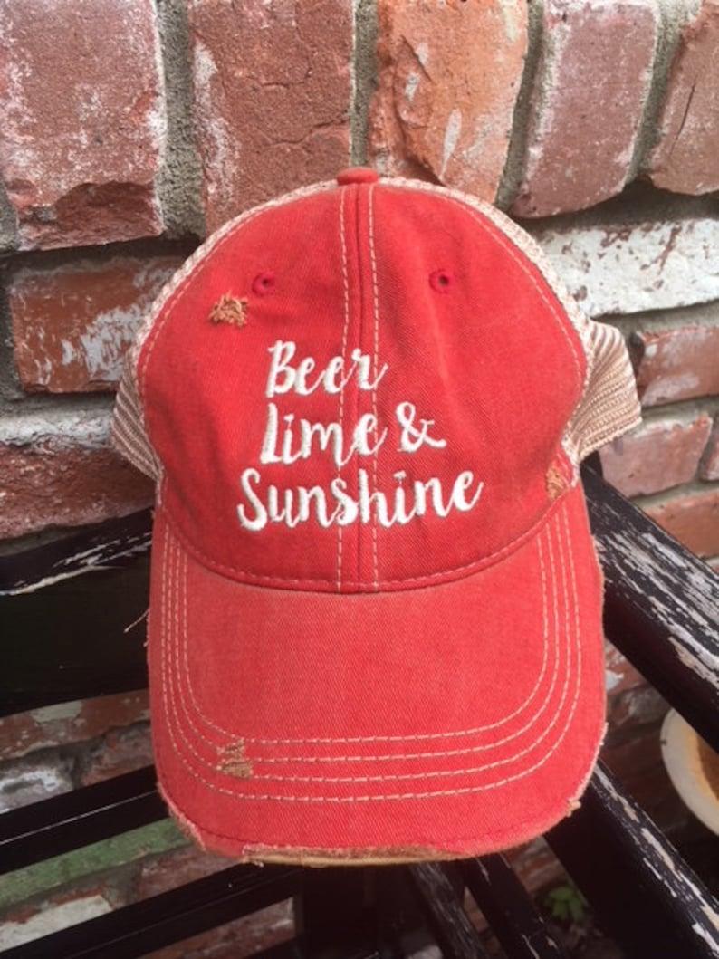 Beer Lime & Sunshine Ball Cap image 0