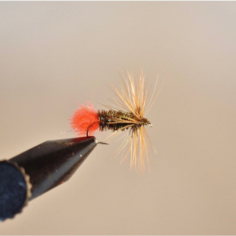 Griffiths Gnat 4 Dry Flies. Grayling Trout Dry fly
