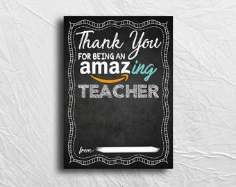 Thank You for Being An Amazing Teacher, Thank You, Gift Card Holder, Printable, Instant Download, Teacher Appreciation, End of School Gift