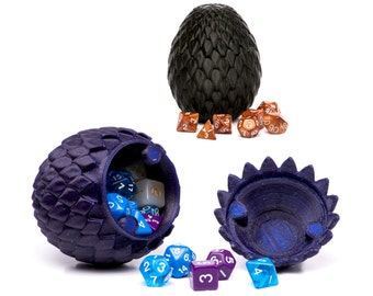 Horntail Dragon Egg Container For Dice and Other Small Trinkets of Sorcery w/ Optional Soft Liner