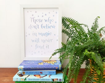 Magical quote printed artwork for nursery
