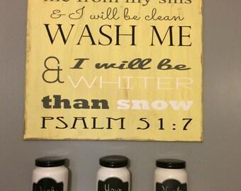 Bathroom Verse Sign
