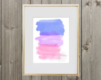 Watercolor Stripes 8x10 Digital Print