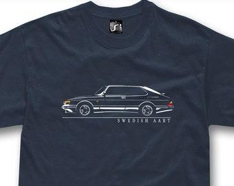 T-shirt for saab 900 turbo fans sweden classic car tshirt - 4 colors