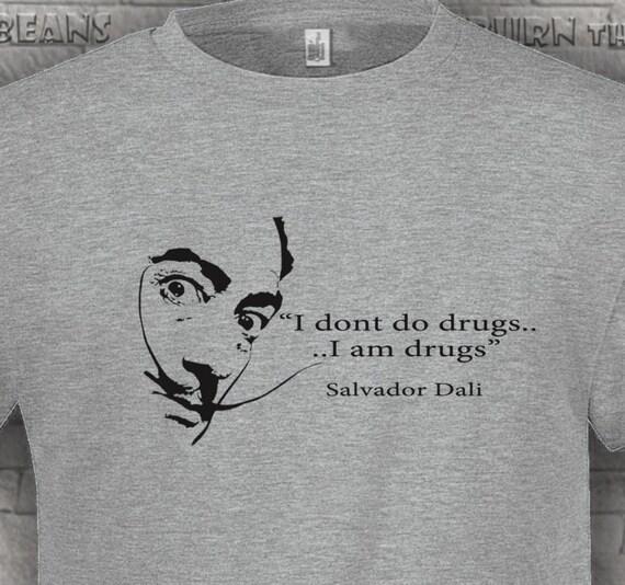 Dali T camisa arte drogas Salvador Dalí surrealismo cocaína  1dc312453f1b2