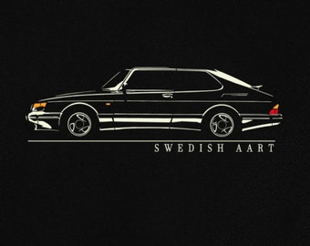T-shirt for saab 900 turbo fans sweden classic car swedish art tshirt S - 5XL - sweatshirt