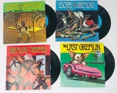 Lot 4 Vintage 1984 Gremlins Movie Read Along Picture Story Books With Vinyl Records Kids
