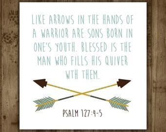Baby Shower Gift Tags. Arrows. Bible Verse. Boho. Custom. Printable
