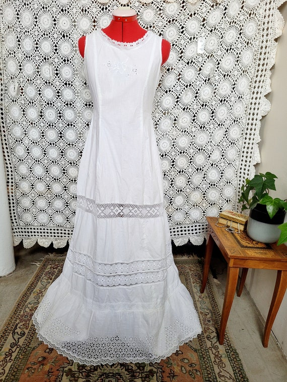 Cotton and Lace Edwardian Night Dress