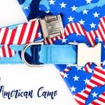 American Camo Dog Collar - Memorial Day Camouflage Dog Collar - American Dog Collar - Patriotic - Independence Day - July 4th - dog Collar