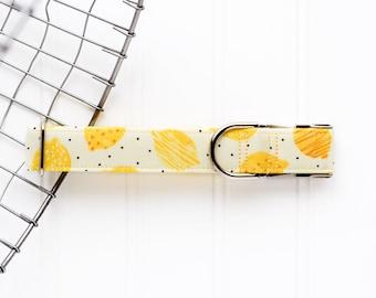 NEW! 2021 Yellow Lemonade Collar - Unisex Dog Collar - Martingale Chain Dog Collar - Dog Collar - Check Chain Collar
