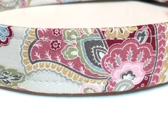 Glamorous Paisley Dog Collar ~ Handmade Dog Collar - Girl Dog Collar