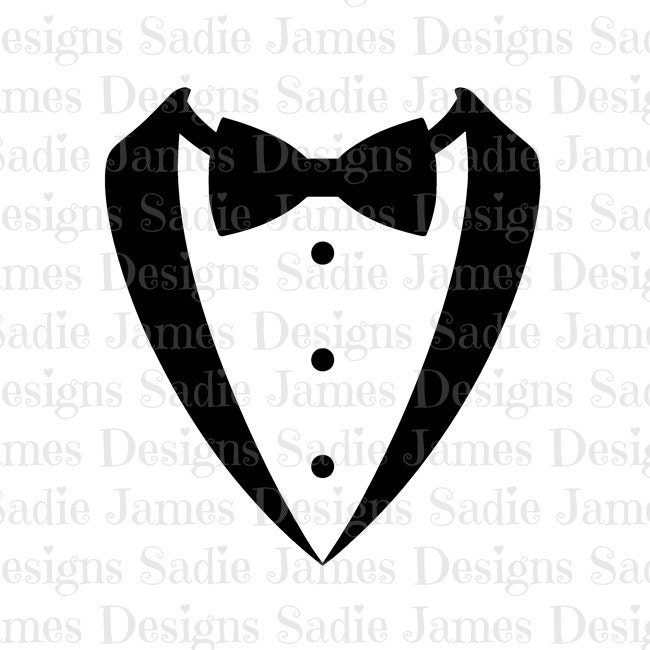 Tuxedo Bow Tie SVG And Silhouette Studio Cutting File