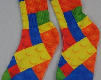 LEGO Blocks Crew Socks Adult