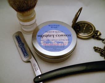 MIDNIGHT COWBOY Premium Quality Artisan Shaving Soap
